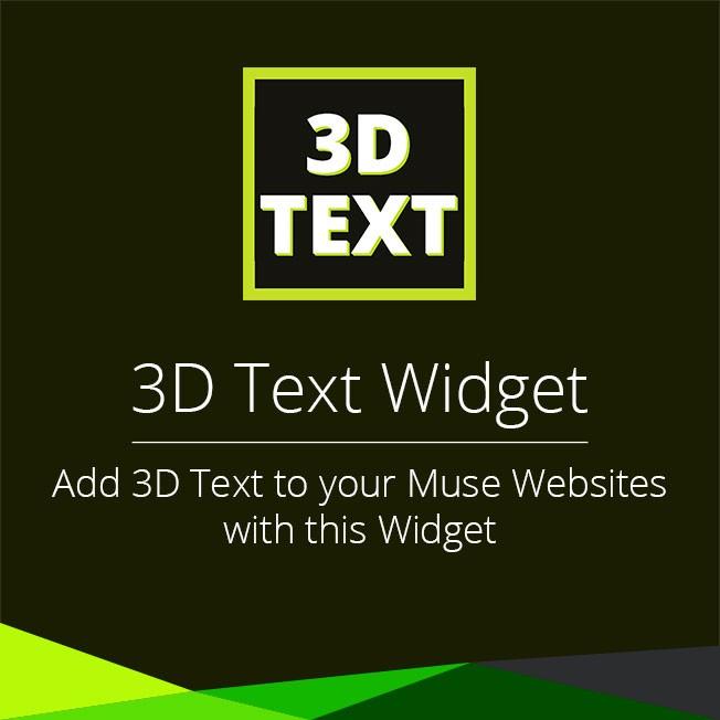 3D Text Widget