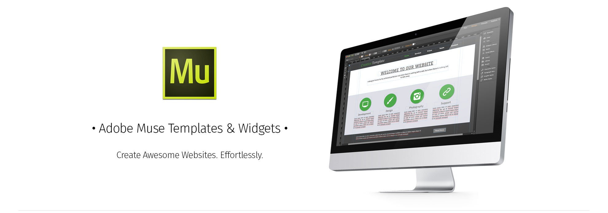 adobe muse templates and widgets
