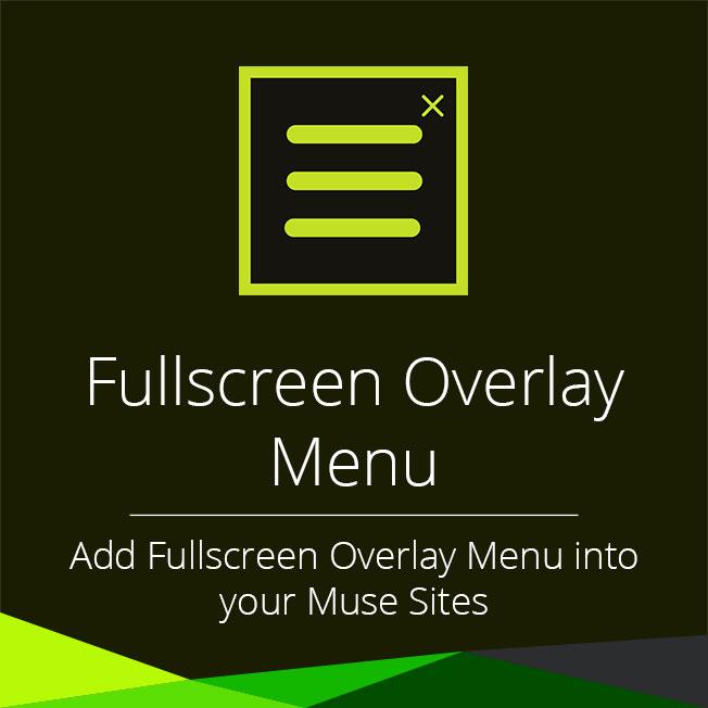 Fullscreen Overlay Menu Widget For Adobe Muse